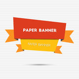 Abstract colorful paper banner Stock Images