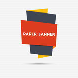 Abstract colorful paper banner Stock Photo