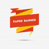 Abstract colorful paper banner Stock Image