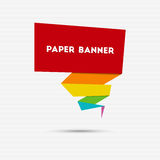 Abstract colorful paper banner Royalty Free Stock Images