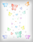 Abstract colorful paper butterflies Royalty Free Stock Photography