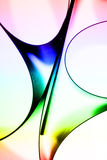 Abstract colorful paper curves Stock Photography