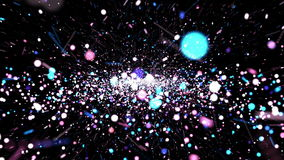 Abstract Colorful Particle background animation vector illustration