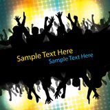 Party People Illustration. Abstract Colorful Party People Illustration in Freely Scalable & Editable Vector Format Royalty Free Stock Photos