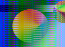 Abstract rainbow stripe background Royalty Free Stock Photos
