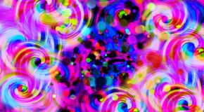 Abstract colorful swirl background, vector illustration