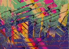 Abstract Colorful Multiple Effect Background Design Stock Image