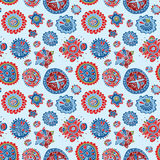 Abstract colorful pattern with hand drawn elements Stock Photo