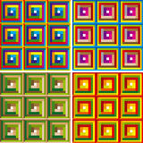 Abstract colorful pattern. Vector. Abstract vector illustration depicting colorful square pattern Royalty Free Stock Images