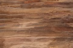 Abstract colorful patterns sandstone gorge Siq,Rose City, Petra,. Jordan. Red canyon walls create many abstracts backgrounds stock photo