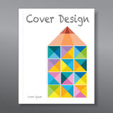 Abstract colorful pencil. Cover design template layout Stock Image