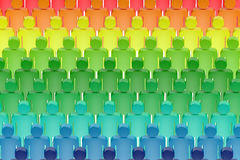 Abstract colorful people background. Abstract rainbow colorful people background Stock Image