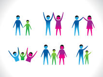 Abstract colorful people icon Royalty Free Stock Image