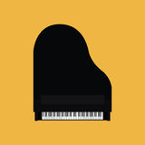 Abstract Colorful Piano Isolated On Color Background. Vector Abstract Colorful Piano Isolated On Color Background Stock Images