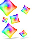 Abstract Colorful Pillows Stock Image