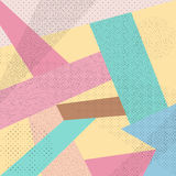 Abstract colorful pink blue yellow dot pattern background Stock Photo