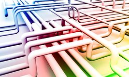 Abstract colorful piping background 3D rendering Stock Image