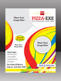 Abstract colorful pizza flyer Royalty Free Stock Photo
