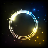 Abstract colorful plasma background with circles Royalty Free Stock Images