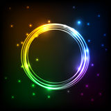 Abstract colorful plasma with circles background Royalty Free Stock Images