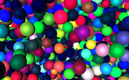 Abstract. The colorful plastic ball background Royalty Free Stock Image