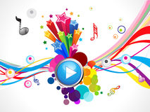 Abstract colorful play music concept. Vector illustration Royalty Free Stock Image