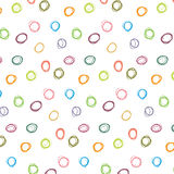 Abstract colorful polka dot pattern vector Royalty Free Stock Photography