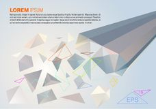 Abstract colorful polygon background with sample text. EPS10 Stock Images