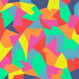 Abstract colorful  polygon. Bright shades. Royalty Free Stock Image