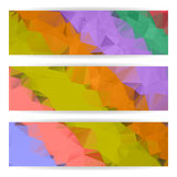 Abstract Colorful Polygonal banners set Royalty Free Stock Photography