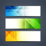 Abstract colorful polygonal headers set Royalty Free Stock Images