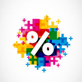 Abstract Colorful Positive Percent Royalty Free Stock Images