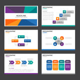 Abstract colorful presentation template flat design set for brochure flyer leaflet marketing Stock Photo