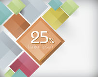 Abstract colorful promotional banner. Vector illustration Stock Image