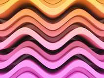 Abstract Colorful Purple Orange Art Background. 3d Render Illustration Stock Photos