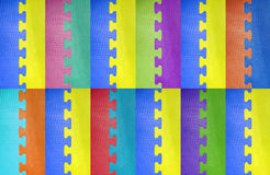 Abstract colorful puzzle background. Royalty Free Stock Photo