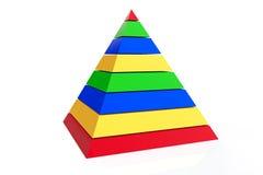 Abstract colorful pyramid Royalty Free Stock Photos
