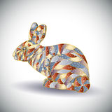 Abstract colorful rabbit. Stock Photos
