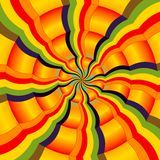 Abstract colorful radial spectrum. Kaleidoscopic and psychedelic colorful spectrum stock illustration