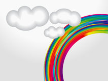 Abstract colorful rainbow Royalty Free Stock Photo