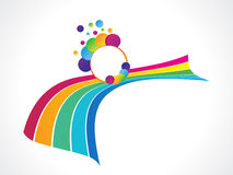 Abstract colorful rainbow background. Vector illustration Royalty Free Stock Photography