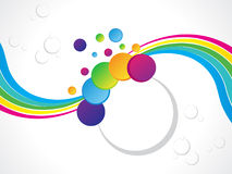Abstract colorful rainbow background. Vector illustration Stock Photography