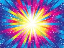 Abstract colorful rainbow background. Illustration stock illustration