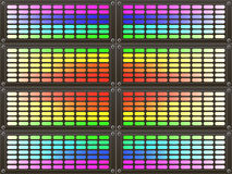 Abstract colorful rainbow background. Rainbow gradient equalizer Stock Image