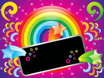 Abstract colorful rainbow background with sparkles. Vector illustration Stock Image