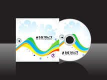 Abstract colorful rainbow cd cover template Royalty Free Stock Photo