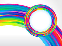 Abstract colorful rainbow circle background Royalty Free Stock Images