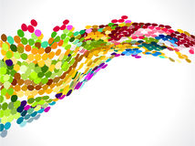 Abstract colorful rainbow circle background Stock Images