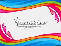 Abstract colorful rainbow color splash border. Vector illustration Royalty Free Stock Image