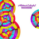 Abstract colorful rainbow curve background design. Stock Images